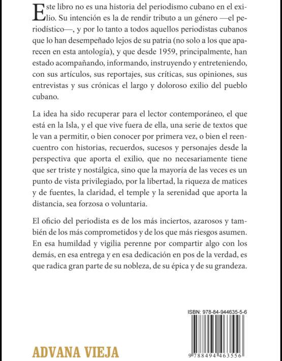Contraportada Periodismo cubano en el exilio